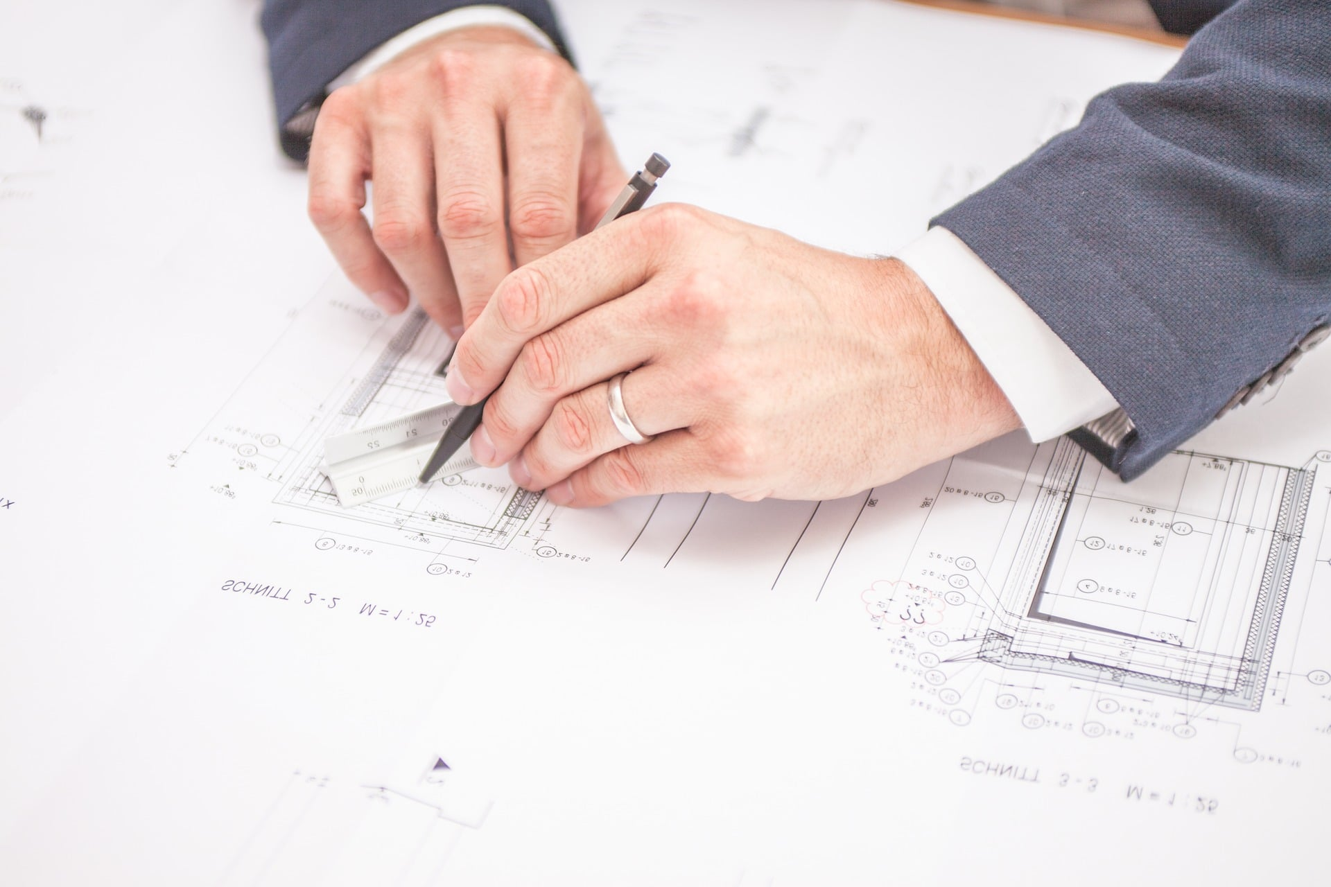 Plan d'architecte d'intérieur